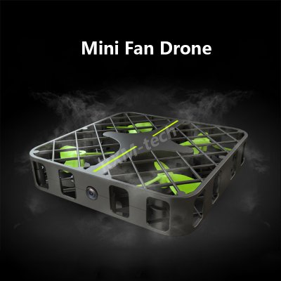 Mini Fan Design Drone with 1.0 MP Camera WIFI FPV 2 Ways Control (Black)