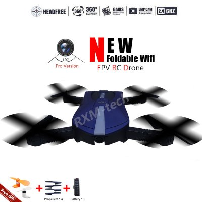 New Pro Foldable RC Quadcopter Drone 2.4G 6 Axis with Wifi FPV 720P Wide Angle Len HD Camera