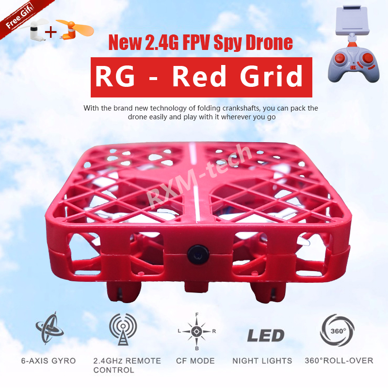 Mini Fan Drone (Red) with logo1.jpg